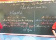 Hội thi chữ viết đẹp giáo viên của trường tiểu học PHan Chu Trinh